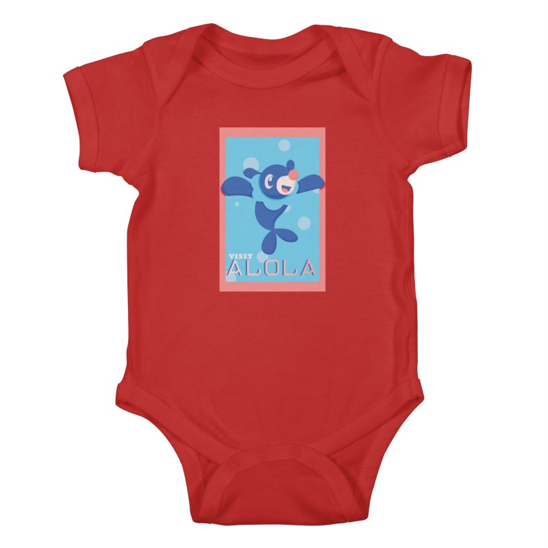 Visit Alola with Popplio ! Kids Baby Bodysuit by jaredslyterdesign's Artist Shop