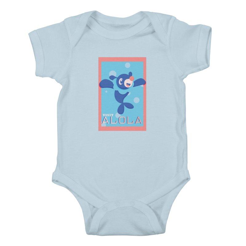 Visit Alola with Popplio ! Kids Baby Bodysuit by jaredslyterdesign's Artist Shop