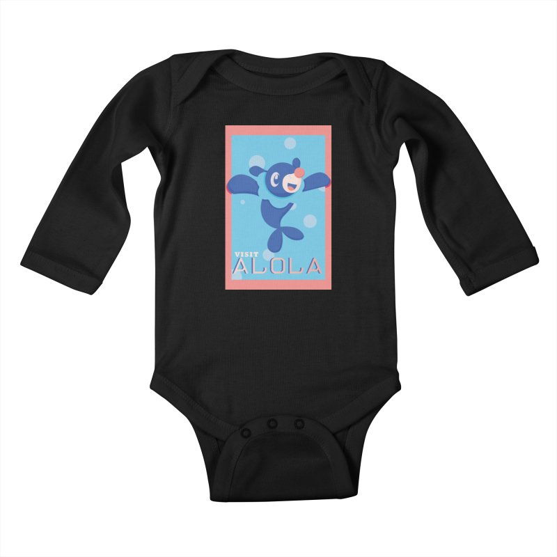 Visit Alola with Popplio ! Kids Baby Longsleeve Bodysuit by jaredslyterdesign's Artist Shop
