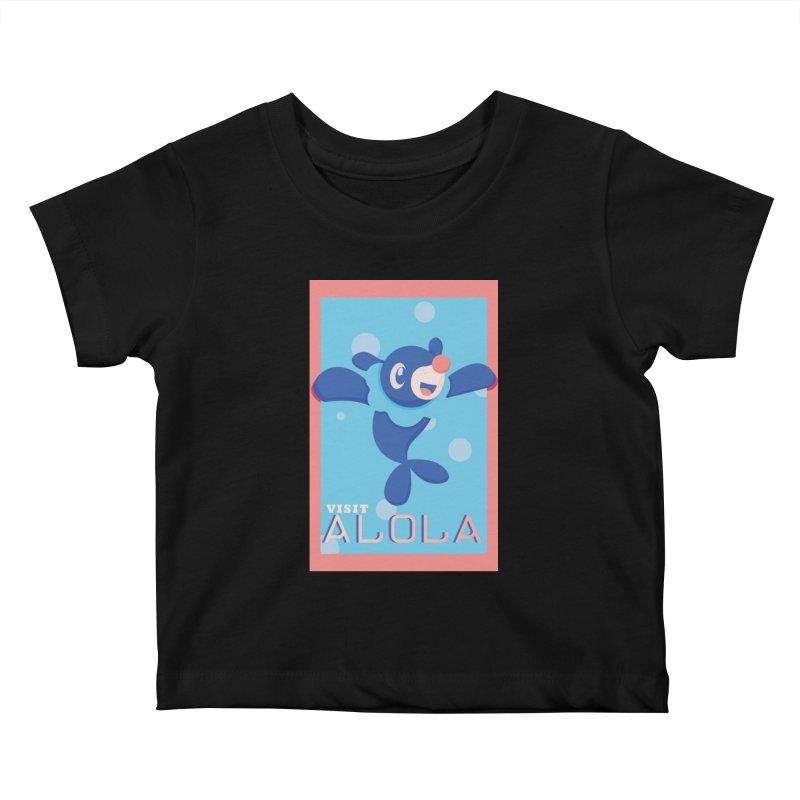 Visit Alola with Popplio ! Kids Baby T-Shirt by jaredslyterdesign's Artist Shop