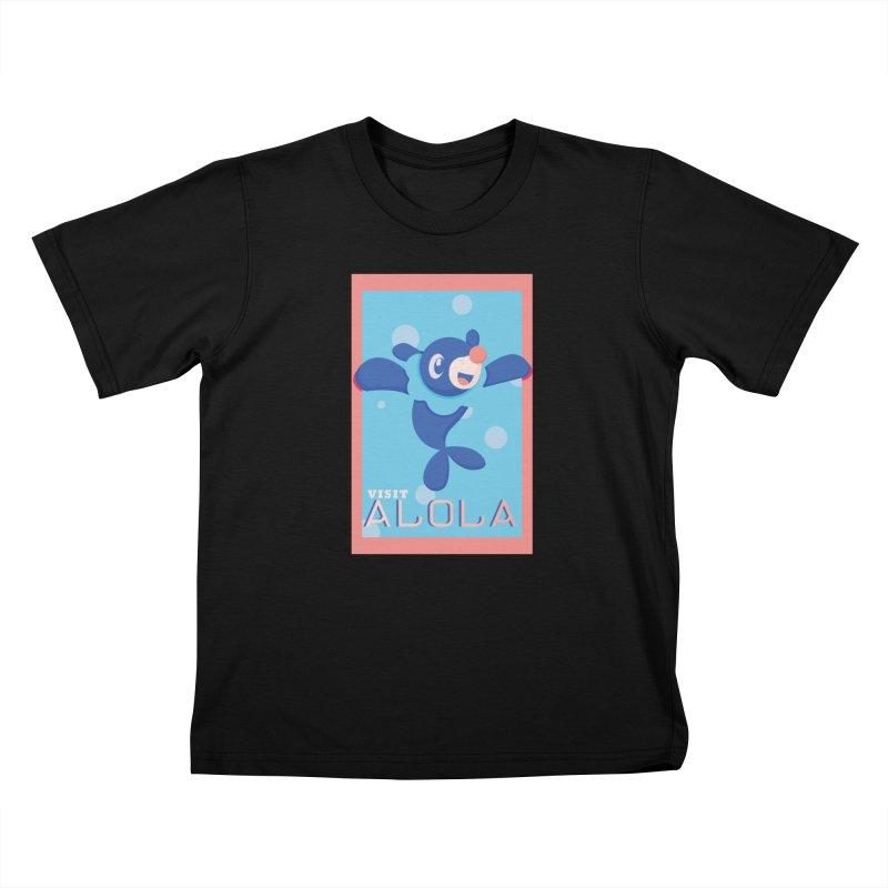 Visit Alola with Popplio ! Kids T-Shirt by jaredslyterdesign's Artist Shop
