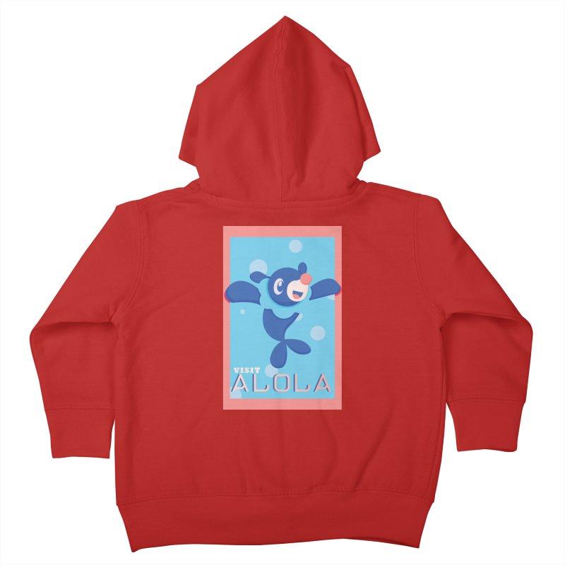 Visit Alola with Popplio ! Kids Toddler Zip-Up Hoody by jaredslyterdesign's Artist Shop