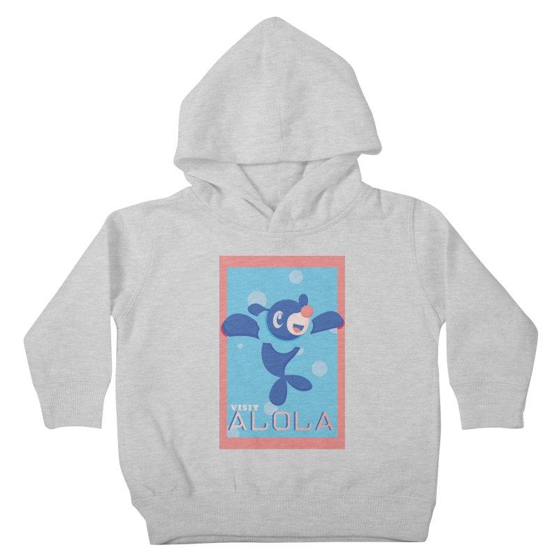 Visit Alola with Popplio ! Kids Toddler Pullover Hoody by jaredslyterdesign's Artist Shop