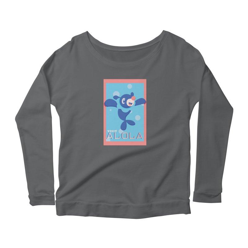 Visit Alola with Popplio ! Women's Longsleeve T-Shirt by jaredslyterdesign's Artist Shop