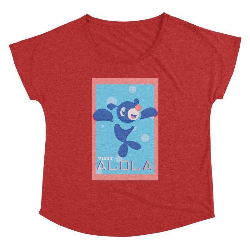 Visit Alola with Popplio ! Women's Dolman Scoop Neck by jaredslyterdesign's Artist Shop