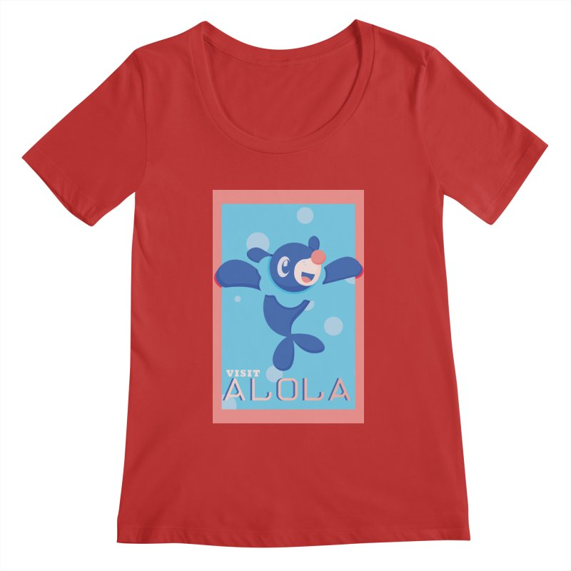 Visit Alola with Popplio ! Women's Regular Scoop Neck by jaredslyterdesign's Artist Shop