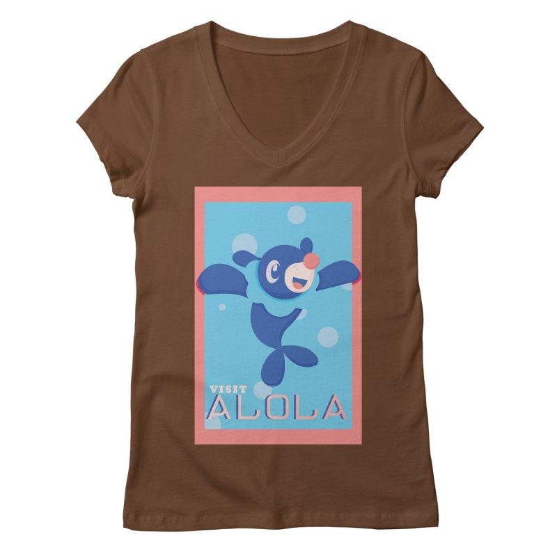 Visit Alola with Popplio ! Women's V-Neck by jaredslyterdesign's Artist Shop