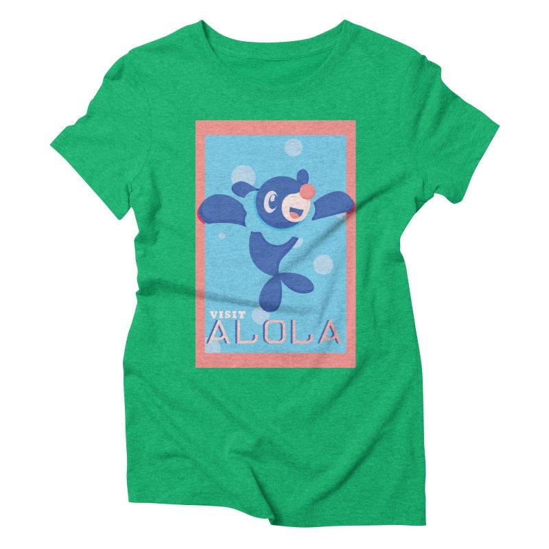 Visit Alola with Popplio ! Women's Triblend T-Shirt by jaredslyterdesign's Artist Shop