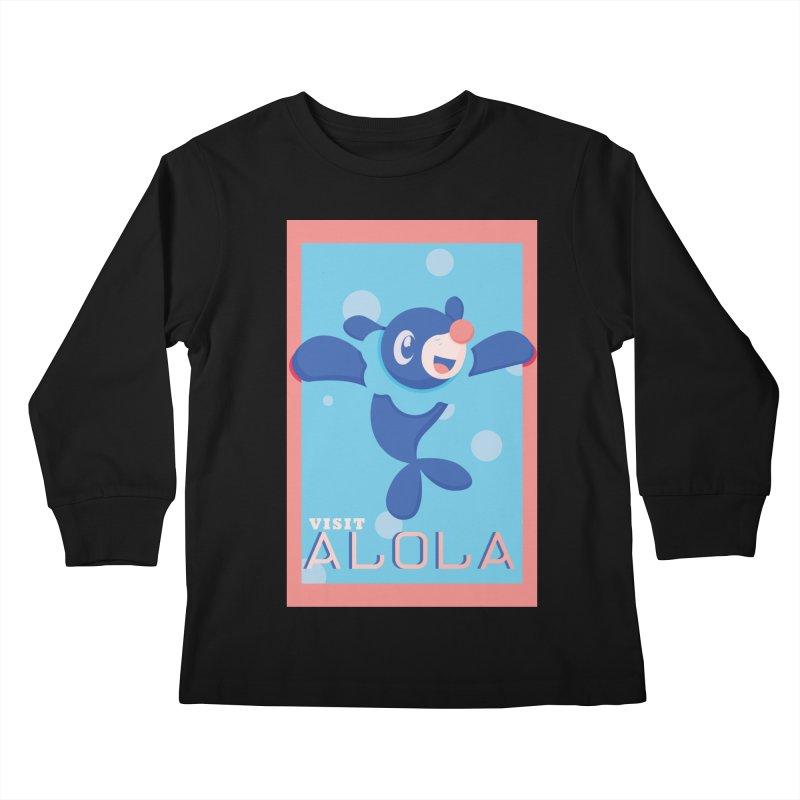 Visit Alola with Popplio ! Kids Longsleeve T-Shirt by jaredslyterdesign's Artist Shop