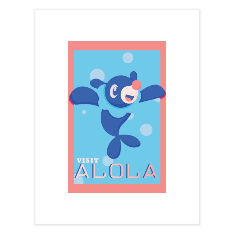 Visit Alola with Popplio ! Home Bath Mat by jaredslyterdesign's Artist Shop