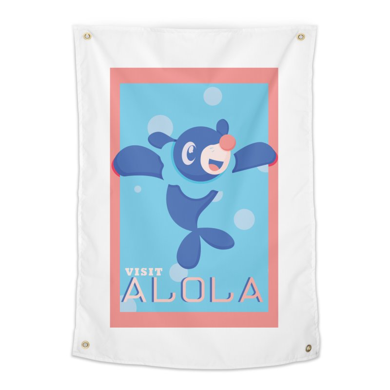 Visit Alola with Popplio ! Home Tapestry by jaredslyterdesign's Artist Shop
