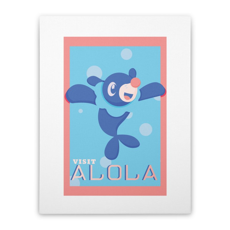 Visit Alola with Popplio ! Home Stretched Canvas by jaredslyterdesign's Artist Shop