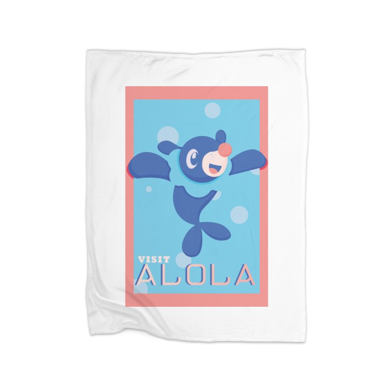 Visit Alola with Popplio ! Home Fleece Blanket Blanket by jaredslyterdesign's Artist Shop