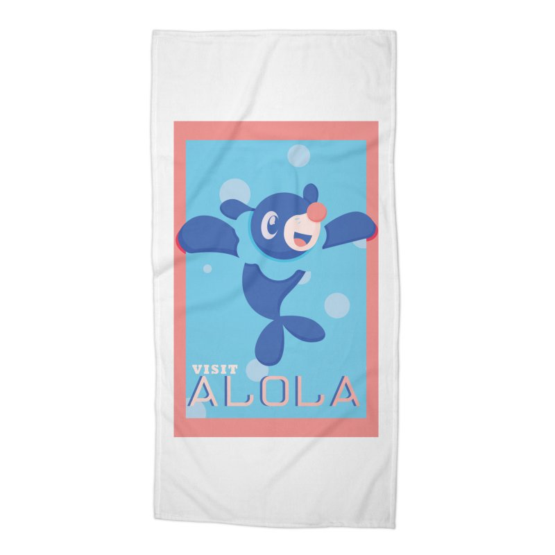 Visit Alola with Popplio ! Accessories Beach Towel by jaredslyterdesign's Artist Shop