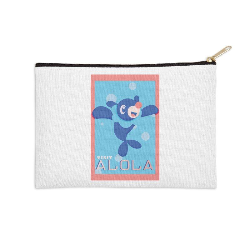 Visit Alola with Popplio ! Accessories Zip Pouch by jaredslyterdesign's Artist Shop