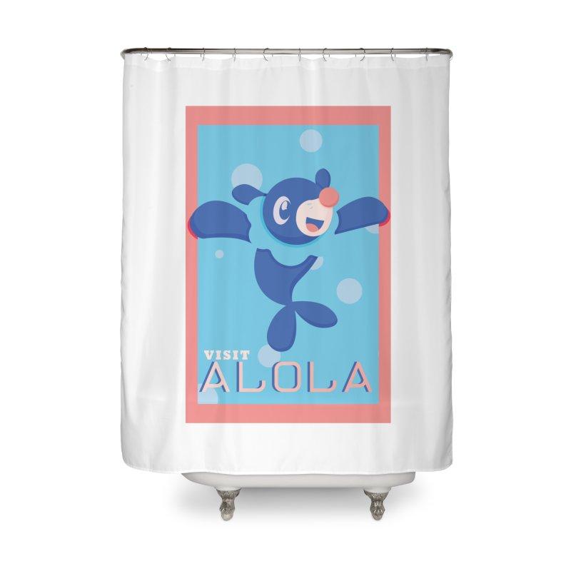 Visit Alola with Popplio ! Home Shower Curtain by jaredslyterdesign's Artist Shop