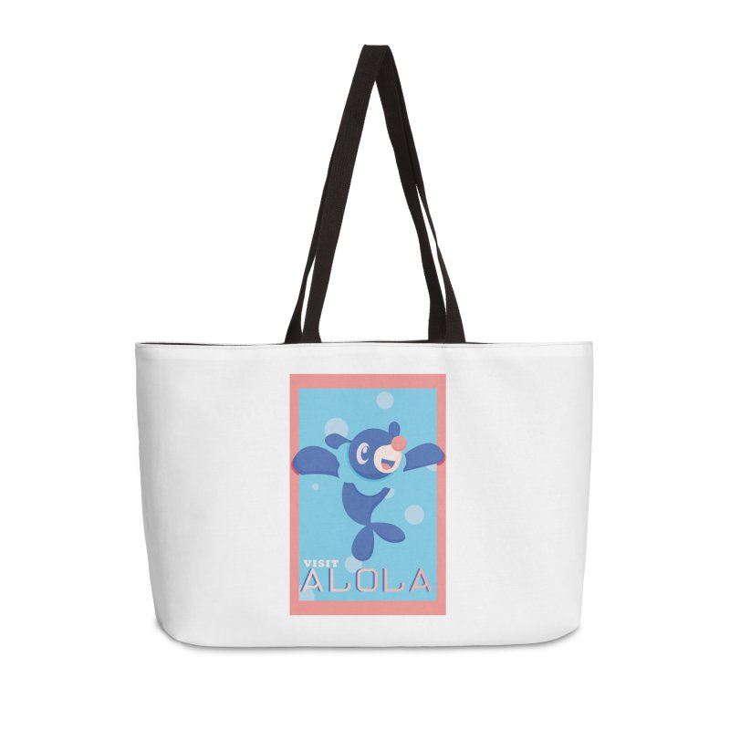Visit Alola with Popplio ! Accessories Weekender Bag Bag by jaredslyterdesign's Artist Shop