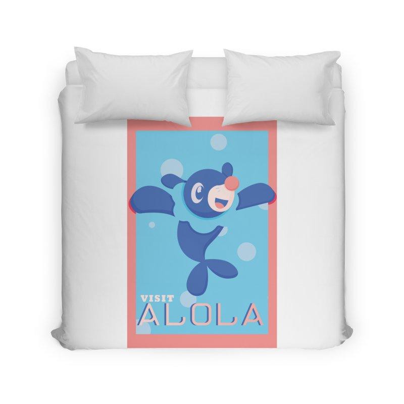 Visit Alola with Popplio ! Home Duvet by jaredslyterdesign's Artist Shop