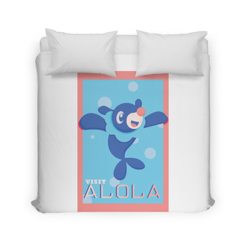 Visit Alola with Popplio ! Home Duvet by jaredslyterdesign's Artist Shop