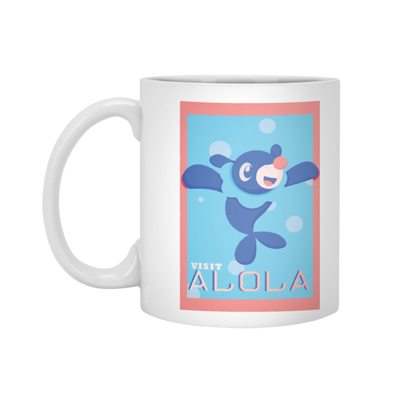 Visit Alola with Popplio ! Accessories Standard Mug by jaredslyterdesign's Artist Shop