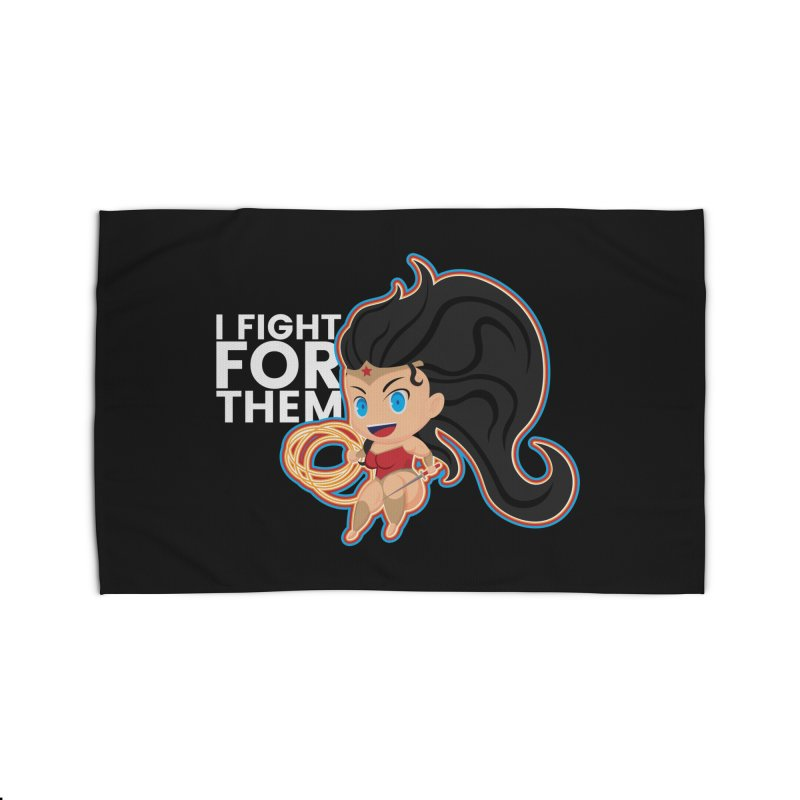Wonder Woman : I FIGHT FOR THEM Home Rug by jaredslyterdesign's Artist Shop