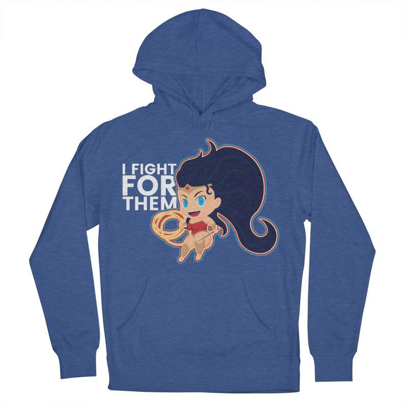 Wonder Woman : I FIGHT FOR THEM Women's Pullover Hoody by jaredslyterdesign's Artist Shop