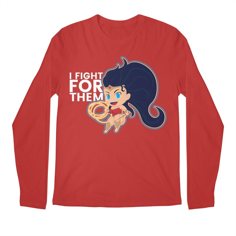 Wonder Woman : I FIGHT FOR THEM Men's Regular Longsleeve T-Shirt by jaredslyterdesign's Artist Shop