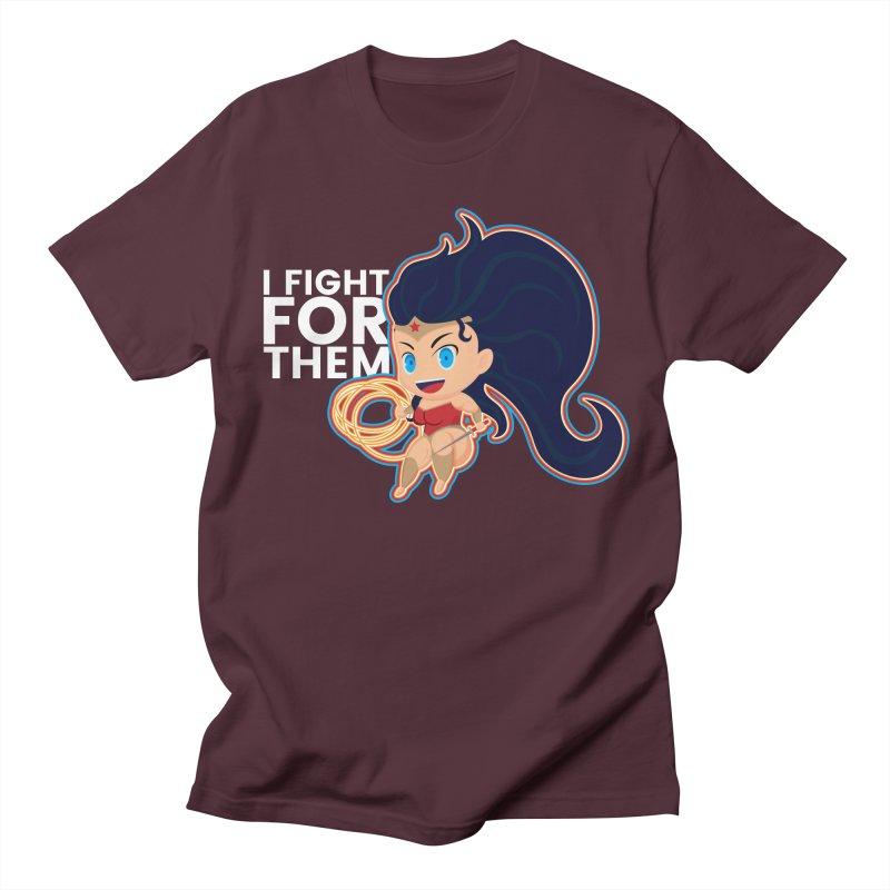 Wonder Woman : I FIGHT FOR THEM Women's Regular Unisex T-Shirt by jaredslyterdesign's Artist Shop