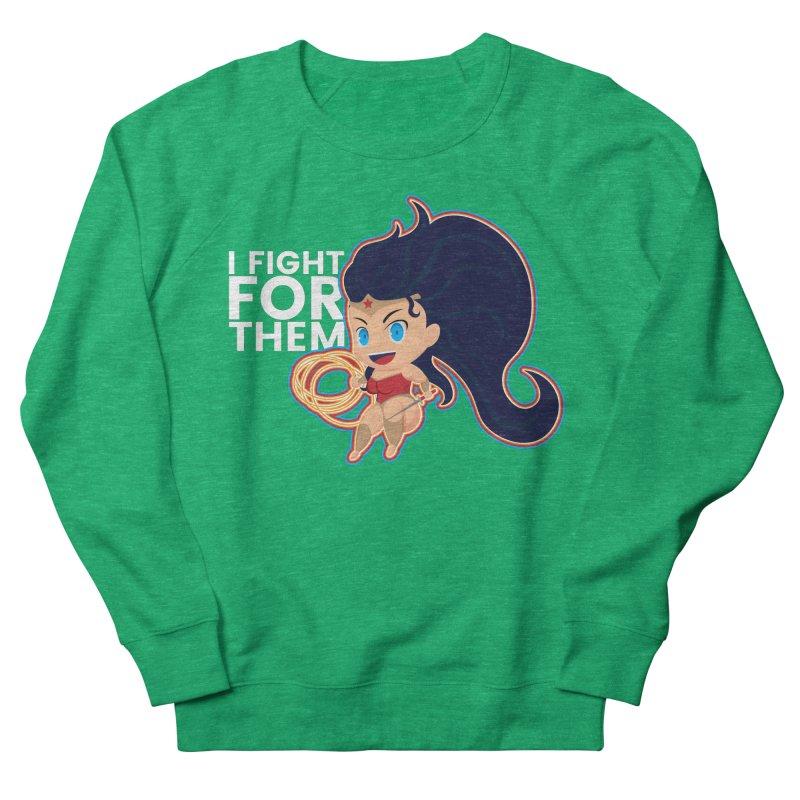 Wonder Woman : I FIGHT FOR THEM Women's French Terry Sweatshirt by jaredslyterdesign's Artist Shop