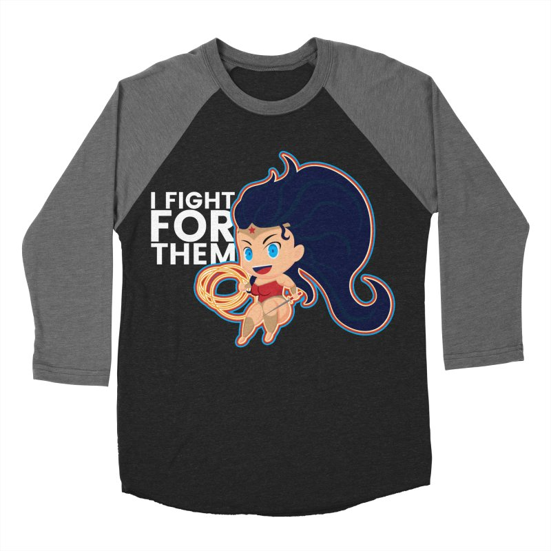 Wonder Woman : I FIGHT FOR THEM Women's Baseball Triblend T-Shirt by jaredslyterdesign's Artist Shop
