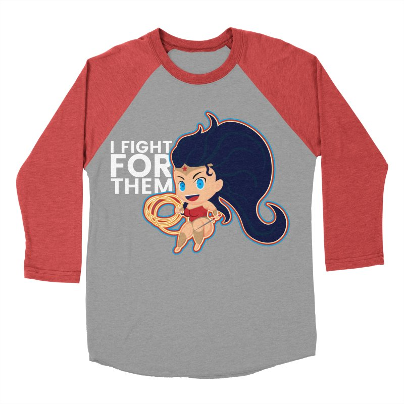 Wonder Woman : I FIGHT FOR THEM Men's Baseball Triblend Longsleeve T-Shirt by jaredslyterdesign's Artist Shop
