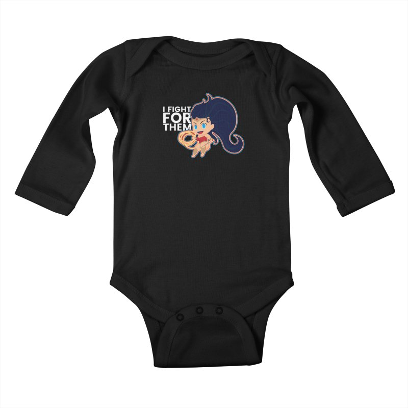 Wonder Woman : I FIGHT FOR THEM Kids Baby Longsleeve Bodysuit by jaredslyterdesign's Artist Shop
