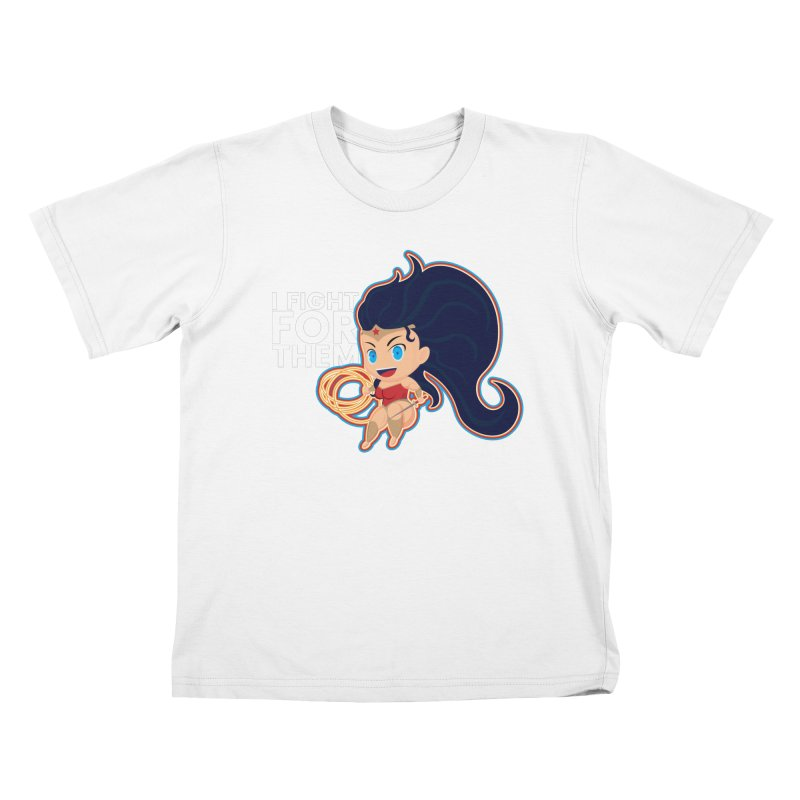 Wonder Woman : I FIGHT FOR THEM Kids T-Shirt by jaredslyterdesign's Artist Shop