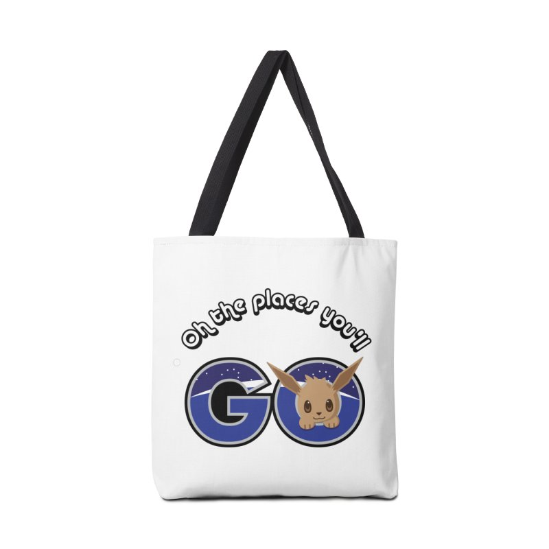 Oh the Places You'll Go ( with Eevee! ) Accessories Bag by jaredslyterdesign's Artist Shop