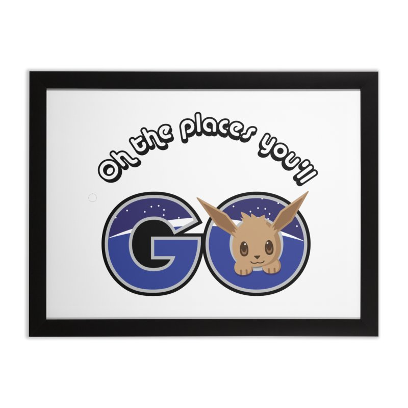 Oh the Places You'll Go ( with Eevee! ) Home Framed Fine Art Print by jaredslyterdesign's Artist Shop