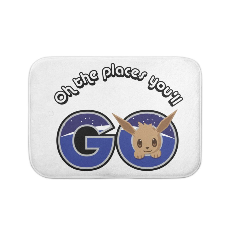 Oh the Places You'll Go ( with Eevee! ) Home Bath Mat by jaredslyterdesign's Artist Shop