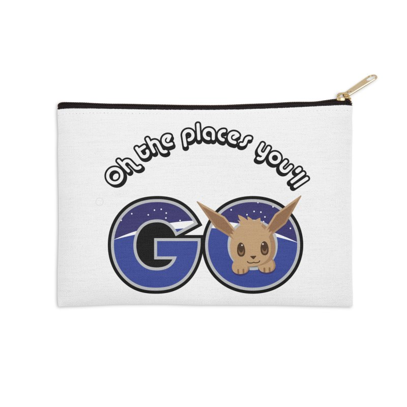 Oh the Places You'll Go ( with Eevee! ) Accessories Zip Pouch by jaredslyterdesign's Artist Shop