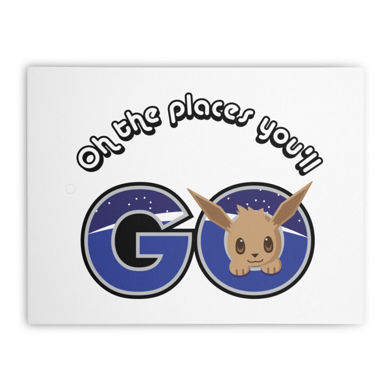 Oh the Places You'll Go ( with Eevee! ) Home Stretched Canvas by jaredslyterdesign's Artist Shop