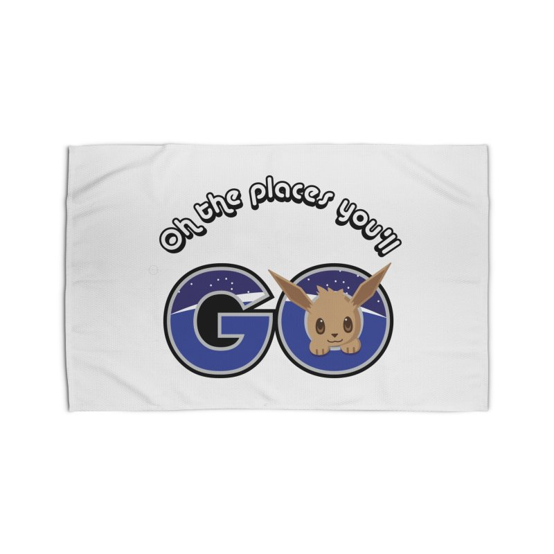 Oh the Places You'll Go ( with Eevee! ) Home Rug by jaredslyterdesign's Artist Shop