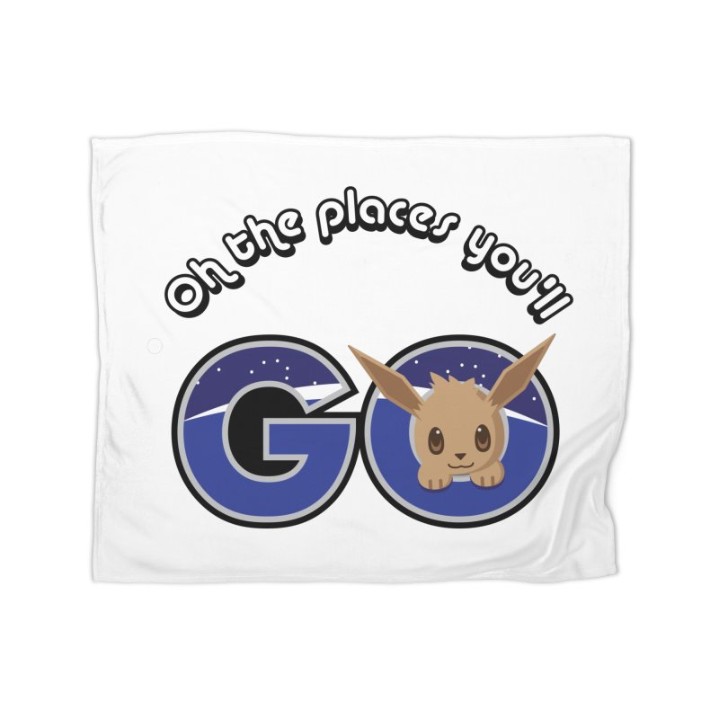 Oh the Places You'll Go ( with Eevee! ) Home Blanket by jaredslyterdesign's Artist Shop