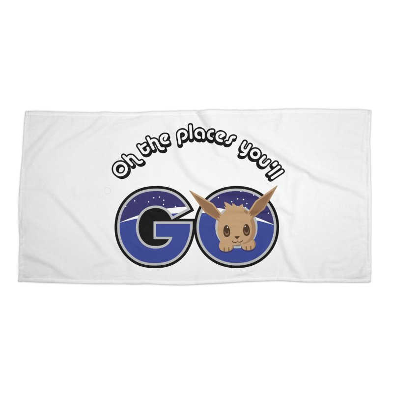 Oh the Places You'll Go ( with Eevee! ) Accessories Beach Towel by jaredslyterdesign's Artist Shop
