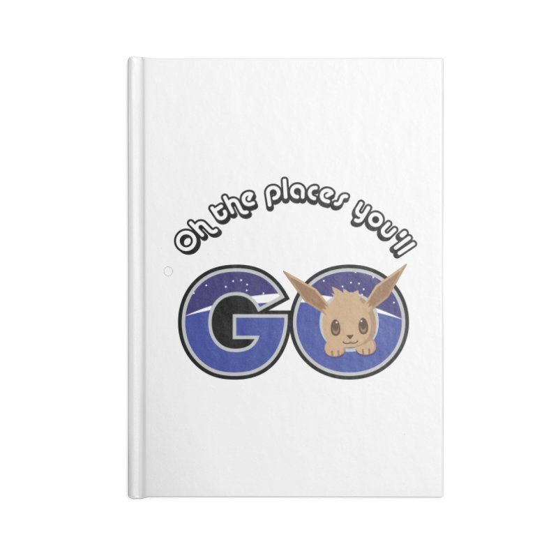 Oh the Places You'll Go ( with Eevee! ) Accessories Notebook by jaredslyterdesign's Artist Shop