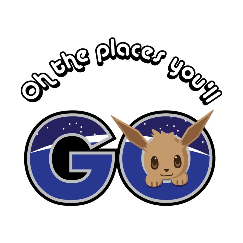 Oh the Places You'll Go ( with Eevee! ) by jaredslyterdesign's Artist Shop