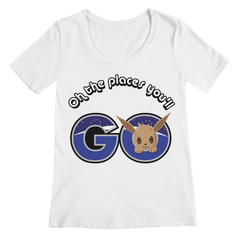 Oh the Places You'll Go ( with Eevee! ) Women's Scoopneck by jaredslyterdesign's Artist Shop