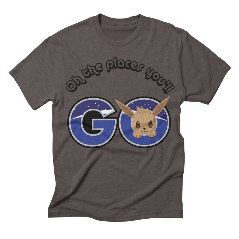 Oh the Places You'll Go ( with Eevee! ) Men's Triblend T-shirt by jaredslyterdesign's Artist Shop