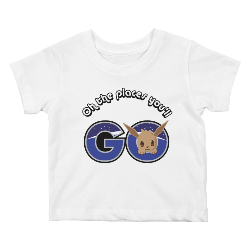Oh the Places You'll Go ( with Eevee! ) Kids Baby T-Shirt by jaredslyterdesign's Artist Shop