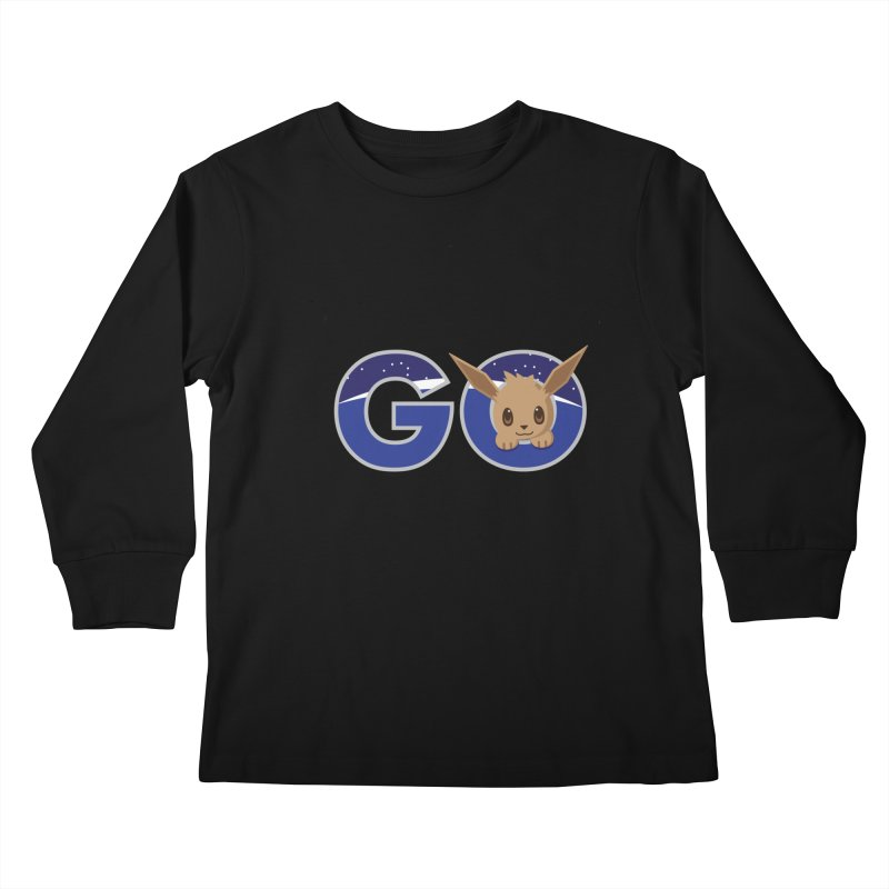 Oh the Places You'll Go ( with Eevee! ) Kids Longsleeve T-Shirt by jaredslyterdesign's Artist Shop