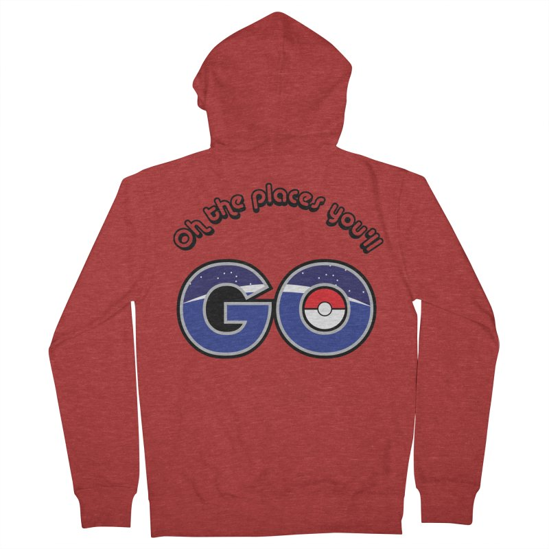 Oh the Places You'll Pokemon Go! Men's Zip-Up Hoody by jaredslyterdesign's Artist Shop