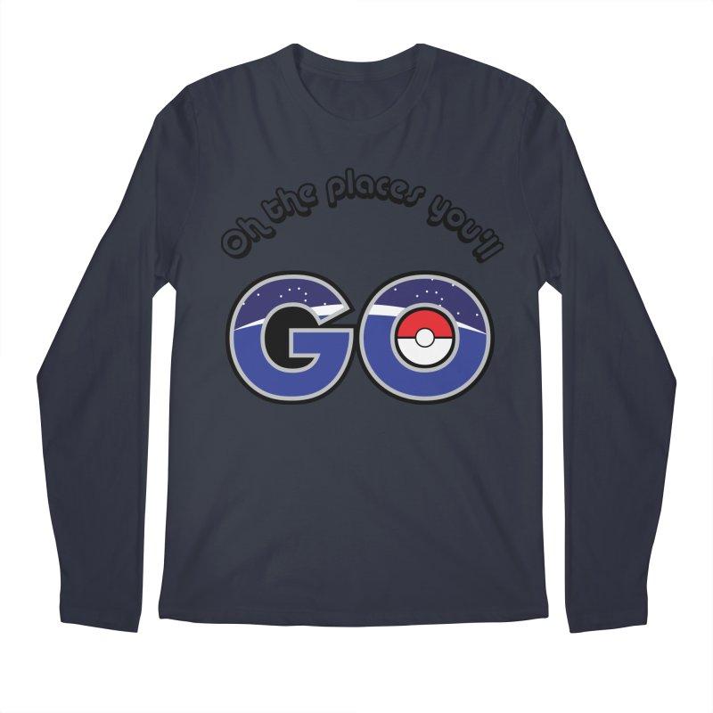 Oh the Places You'll Pokemon Go! Men's Regular Longsleeve T-Shirt by jaredslyterdesign's Artist Shop