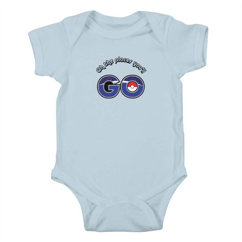 Oh the Places You'll Pokemon Go! Kids Baby Bodysuit by jaredslyterdesign's Artist Shop